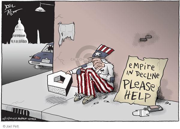 Cartoonist Joel Pett  Joel Pett's Editorial Cartoons 2010-11-17 Pentagon