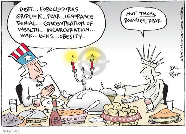 Joel Pett  Joel Pett's Editorial Cartoons 2010-11-24 obesity