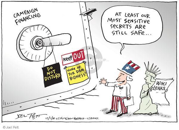 Joel Pett  Joel Pett's Editorial Cartoons 2010-12-01 secret