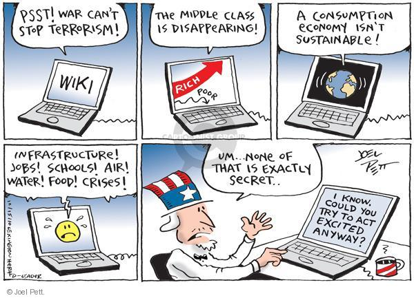 Joel Pett  Joel Pett's Editorial Cartoons 2010-12-15 leak