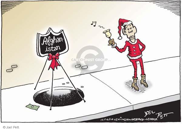 Joel Pett  Joel Pett's Editorial Cartoons 2010-12-16 Obama Afghanistan