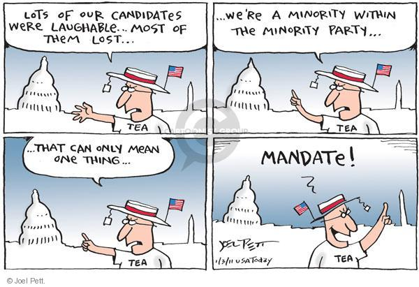 Joel Pett  Joel Pett's Editorial Cartoons 2011-01-03 republicans 2010 election