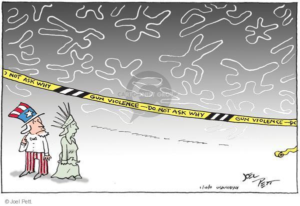 Joel Pett  Joel Pett's Editorial Cartoons 2011-01-10 gun rights