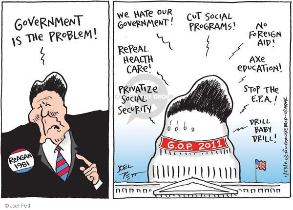 Cartoonist Joel Pett  Joel Pett's Editorial Cartoons 2011-01-23 Government Spending