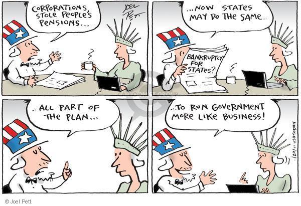 Joel Pett  Joel Pett's Editorial Cartoons 2011-01-24 economy