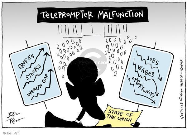 Cartoonist Joel Pett  Joel Pett's Editorial Cartoons 2011-01-25 state