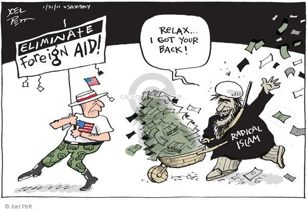 Joel Pett  Joel Pett's Editorial Cartoons 2011-01-31 foreign aid