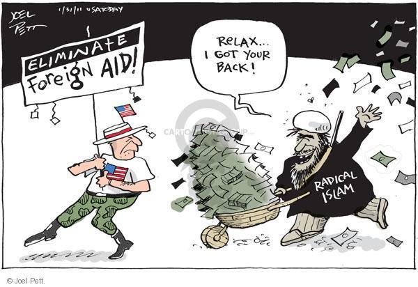 Cartoonist Joel Pett  Joel Pett's Editorial Cartoons 2011-01-31 Muslim