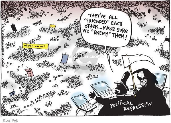 Cartoonist Joel Pett  Joel Pett's Editorial Cartoons 2011-02-01 freedom