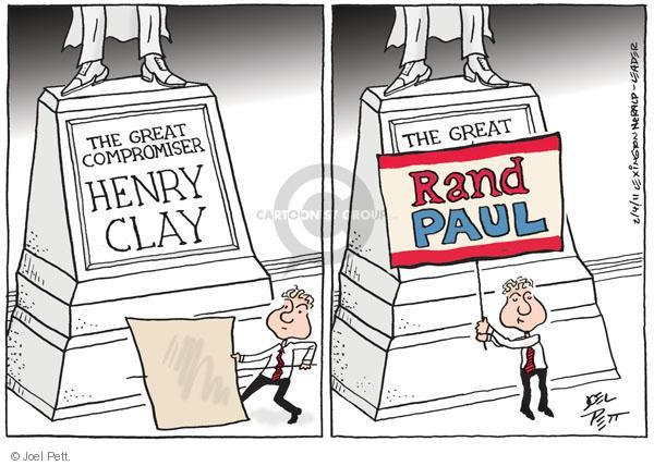 The great compromiser Henry Clay. The great Rand Paul.