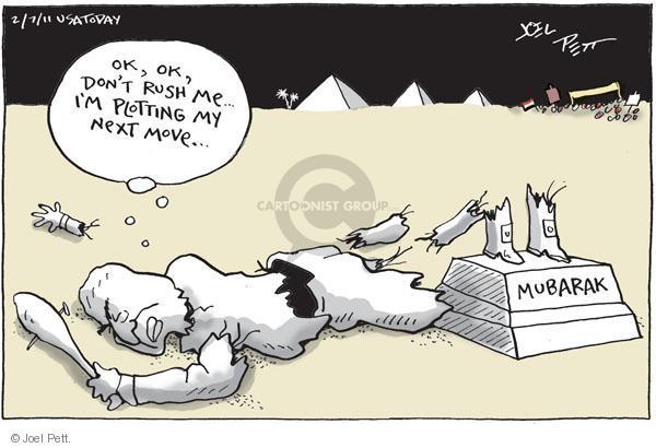 Cartoonist Joel Pett  Joel Pett's Editorial Cartoons 2011-02-07 plot