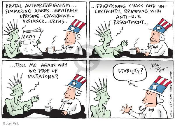 Joel Pett  Joel Pett's Editorial Cartoons 2011-02-13 foreign aid