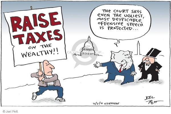 Cartoonist Joel Pett  Joel Pett's Editorial Cartoons 2011-03-07 Supreme Court