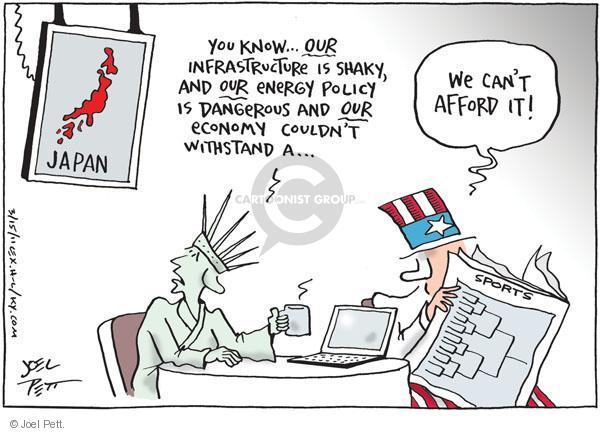 Cartoonist Joel Pett  Joel Pett's Editorial Cartoons 2011-03-15 power