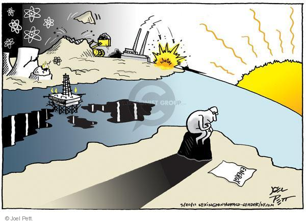 Cartoonist Joel Pett  Joel Pett's Editorial Cartoons 2011-03-20 power