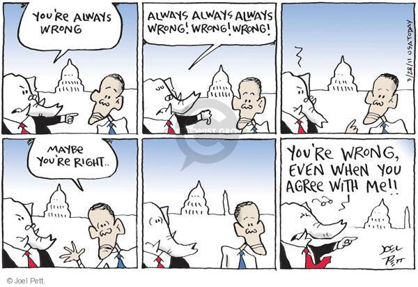 Cartoonist Joel Pett  Joel Pett's Editorial Cartoons 2011-03-28 Republican opposition