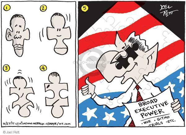 Cartoonist Joel Pett  Joel Pett's Editorial Cartoons 2011-03-27 separation of powers
