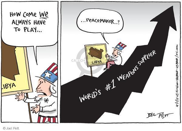 Joel Pett  Joel Pett's Editorial Cartoons 2011-04-01 Libya