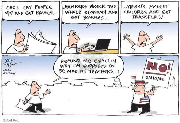 Joel Pett  Joel Pett's Editorial Cartoons 2011-04-04 compensation