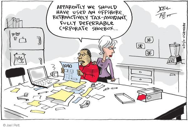 Cartoonist Joel Pett  Joel Pett's Editorial Cartoons 2011-04-11 business tax