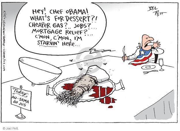 Joel Pett  Joel Pett's Editorial Cartoons 2011-05-05 dessert