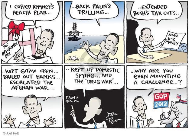 Cartoonist Joel Pett  Joel Pett's Editorial Cartoons 2011-05-20 Republican opposition