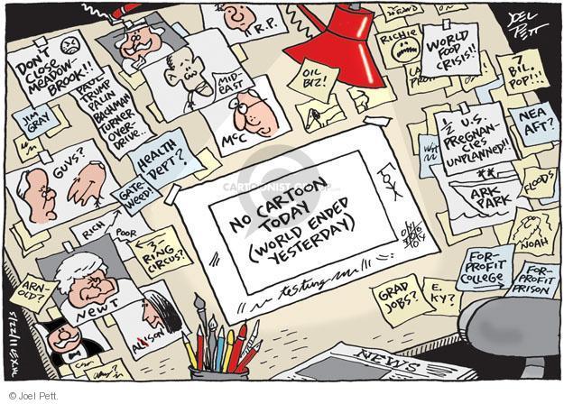 Cartoonist Joel Pett  Joel Pett's Editorial Cartoons 2011-05-22 close