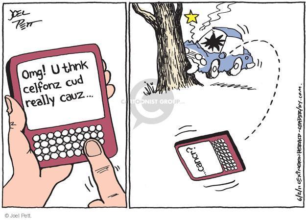 Cartoonist Joel Pett  Joel Pett's Editorial Cartoons 2011-06-02 accident
