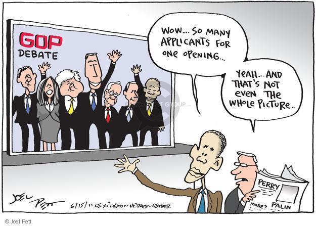Cartoonist Joel Pett  Joel Pett's Editorial Cartoons 2011-06-15 wow