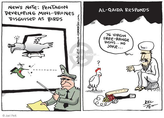 Cartoonist Joel Pett  Joel Pett's Editorial Cartoons 2011-06-21 drone