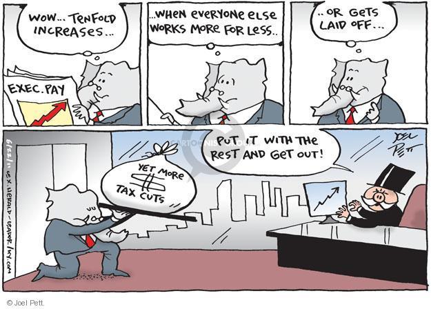 Cartoonist Joel Pett  Joel Pett's Editorial Cartoons 2011-06-22 tax cut