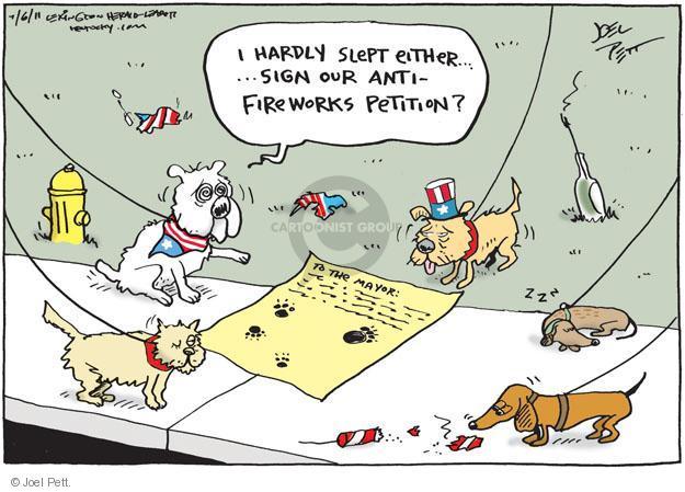 Cartoonist Joel Pett  Joel Pett's Editorial Cartoons 2011-07-06 independence day