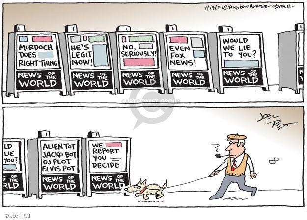 Cartoonist Joel Pett  Joel Pett's Editorial Cartoons 2011-07-13 plot