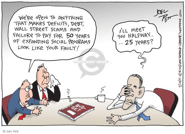 Cartoonist Joel Pett  Joel Pett's Editorial Cartoons 2011-07-14 federal budget