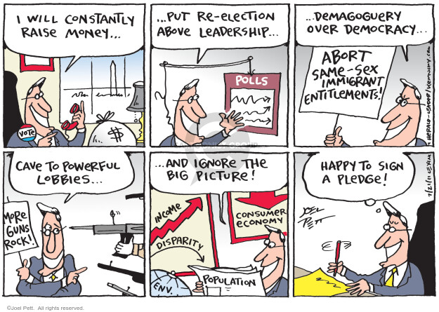 Cartoonist Joel Pett  Joel Pett's Editorial Cartoons 2011-07-21 powerful