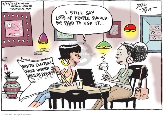 Joel Pett  Joel Pett's Editorial Cartoons 2011-07-22 health care reform