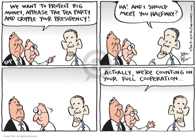 Cartoonist Joel Pett  Joel Pett's Editorial Cartoons 2011-07-26 big government