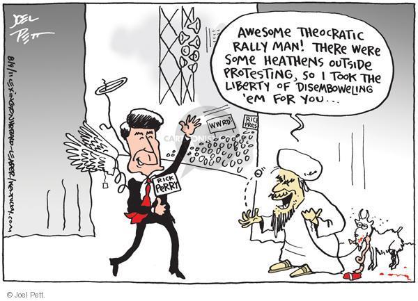 Joel Pett  Joel Pett's Editorial Cartoons 2011-08-09 2012 election religion