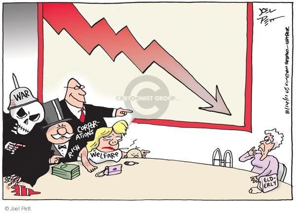 Cartoonist Joel Pett  Joel Pett's Editorial Cartoons 2011-08-14 wealthy