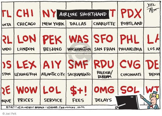 Cartoonist Joel Pett  Joel Pett's Editorial Cartoons 2011-08-16 delay