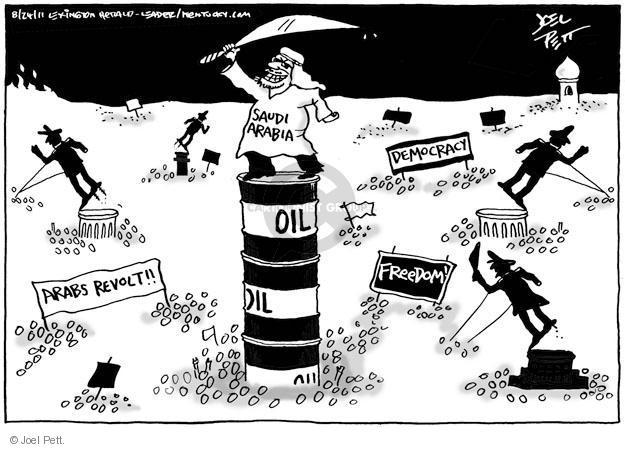 Joel Pett  Joel Pett's Editorial Cartoons 2011-08-24 Saudi Arabia