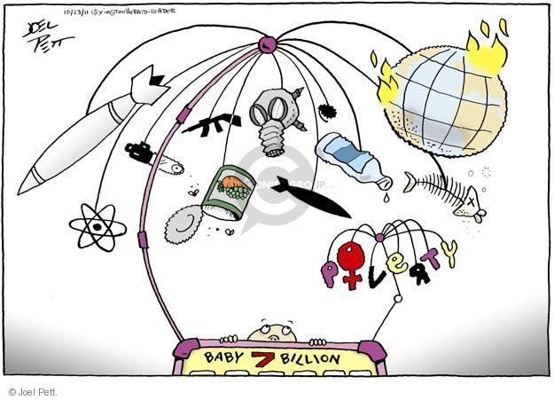 Cartoonist Joel Pett  Joel Pett's Editorial Cartoons 2011-10-23 baby