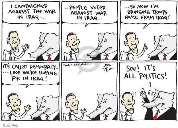 Joel Pett  Joel Pett's Editorial Cartoons 2011-11-16 international politics