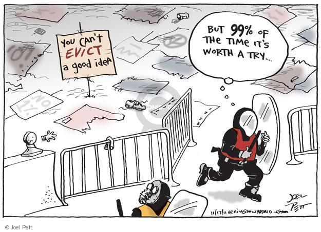 Cartoonist Joel Pett  Joel Pett's Editorial Cartoons 2011-11-17 greedy