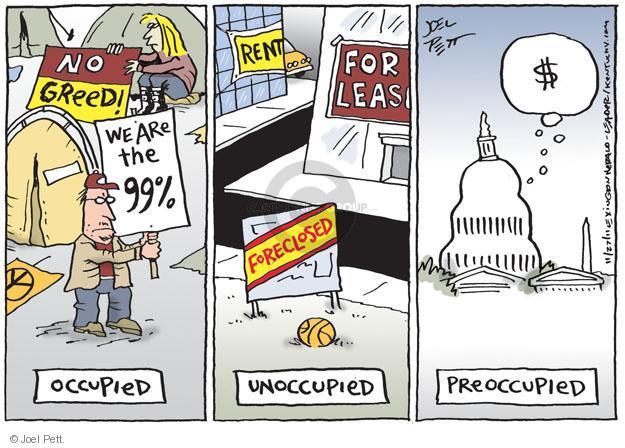 Cartoonist Joel Pett  Joel Pett's Editorial Cartoons 2011-11-27 greedy