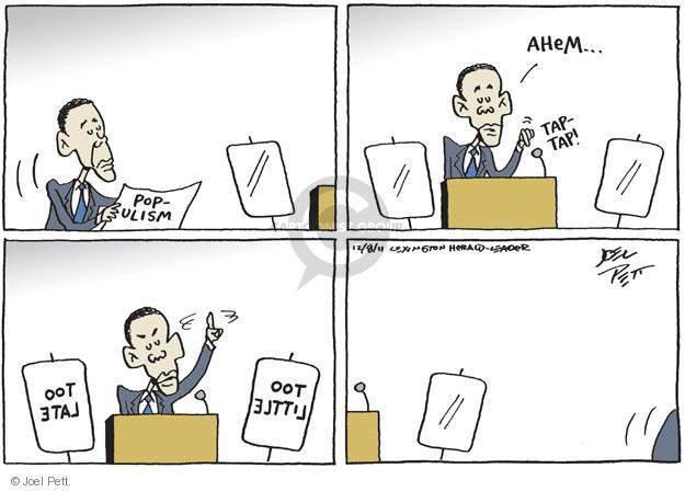 Joel Pett  Joel Pett's Editorial Cartoons 2011-12-08 tap