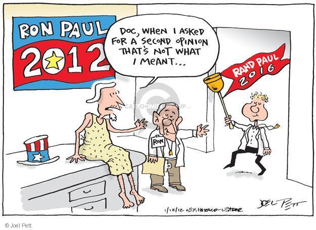 Cartoonist Joel Pett  Joel Pett's Editorial Cartoons 2012-01-12 meant
