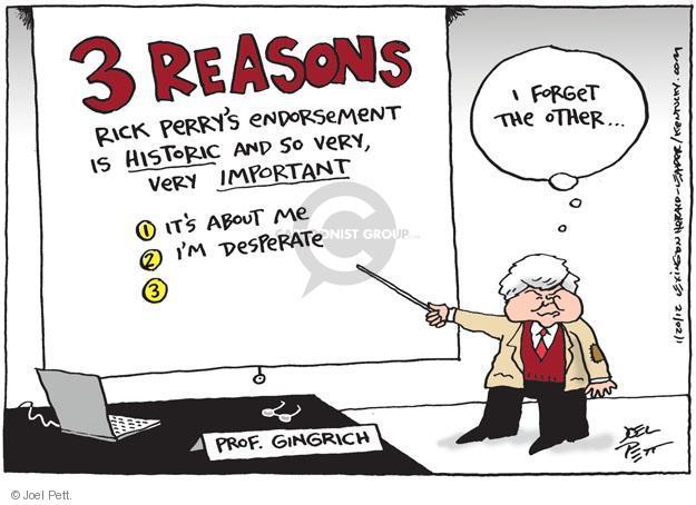 Joel Pett  Joel Pett's Editorial Cartoons 2012-01-20 2012 election endorsement
