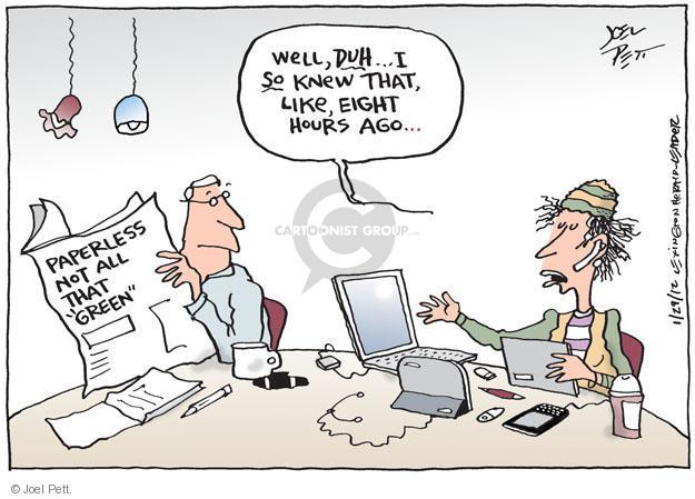 Joel Pett  Joel Pett's Editorial Cartoons 2012-01-29 tree