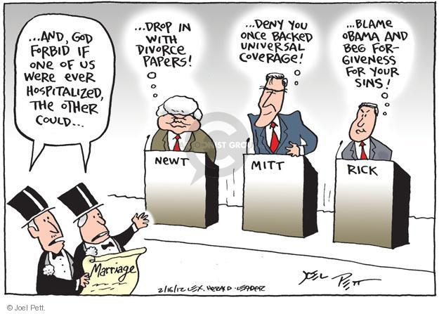 Joel Pett  Joel Pett's Editorial Cartoons 2012-02-16 hospital